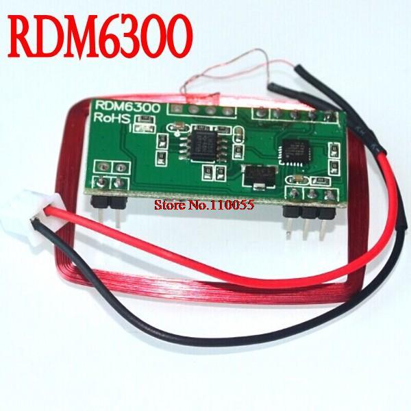 Free shipping! UART 125Khz EM4100 RFID Card Key ID Reader Module RDM6300 (RDM630) For Arduino(China (Mainland))