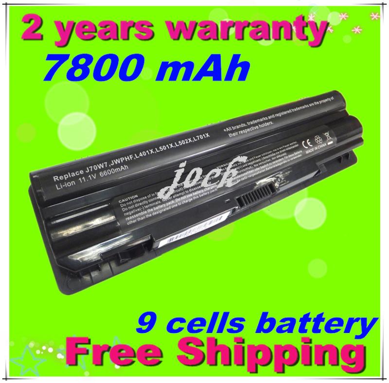 9 Cells 7800mAh Battery for DELL XPS 14 XPS 15 L401x L501x L502x L521x 17 L701x 3D L702x laptop free shipping<br><br>Aliexpress