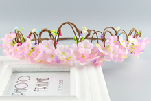 Delicate Bridal pink color Flower Headpiece Wedding Hair Accessories Floral Crown Boho Halo Artificial Flower Crown Headband