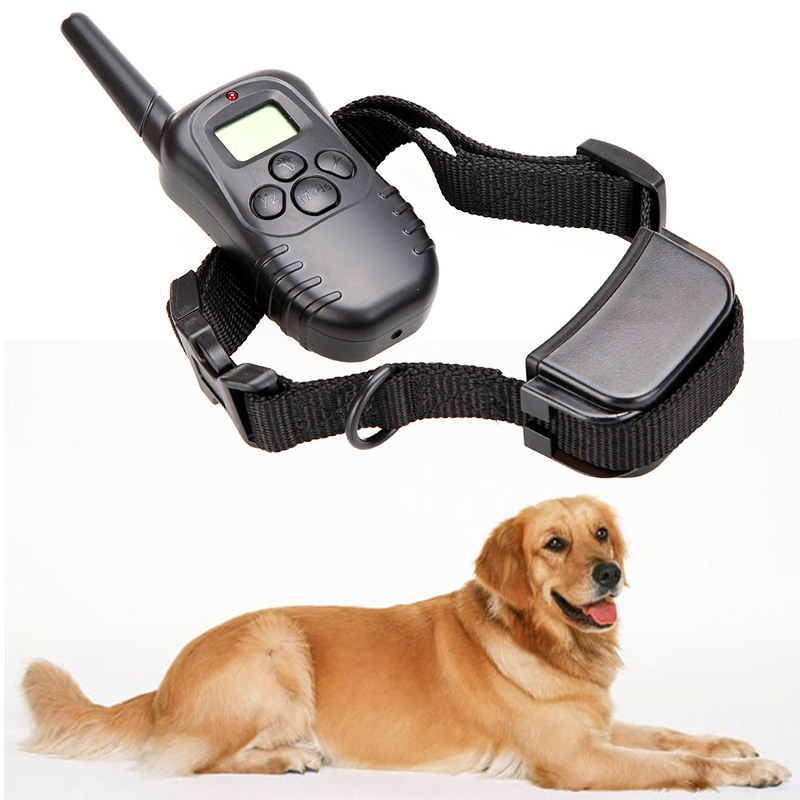 Pet Products Rechargeable Waterproof 300M 100LV LCD Remote Dog Pet Training Collar Tool Shock Vibrate for 1 Dog Supplies(China (Mainland))