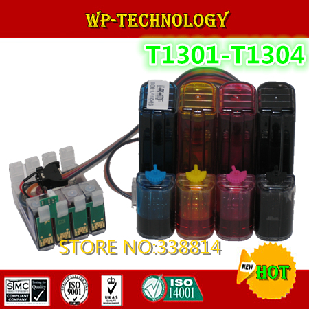 [Full] CISS suit for T1301 T1302 T1303 T1304 ,suit for  Epson Stylus Office BX525WD , BX625FWD ,With auto reset chips .