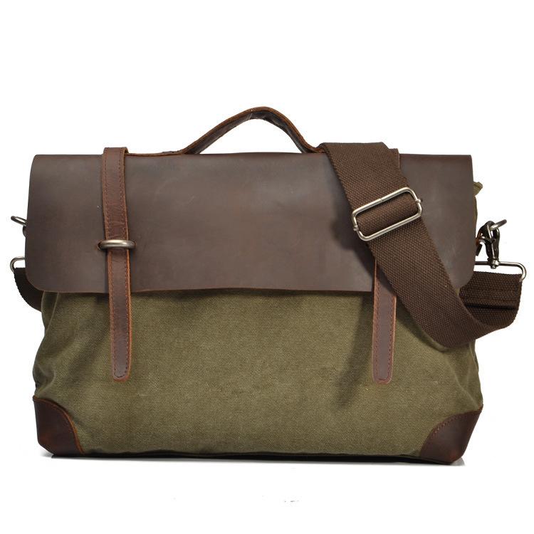 Здесь можно купить  Vintage Men Horsehide Leather Canvas Shoulder Bag, Retro Women Messenger Bags, Horse Leather+Canvas Bags A45  Камера и Сумки