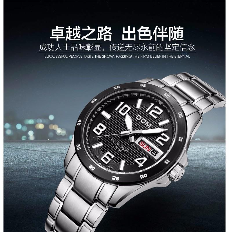 Дом 2016 мужчин подлинный бизнес сапфир водонепроницаемый дайвер световой стальной ленты многофункциональный пояса стали день - дата часы