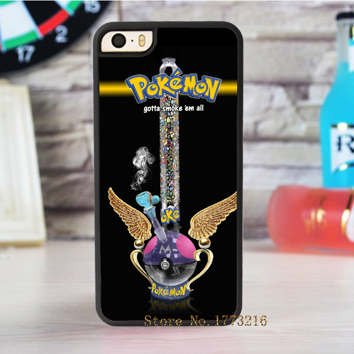 Master Bong pokemon smoke fashion case for iphone 4 4s 5 5s SE 5c for 6 & 6 plus 6S & 6S plus
