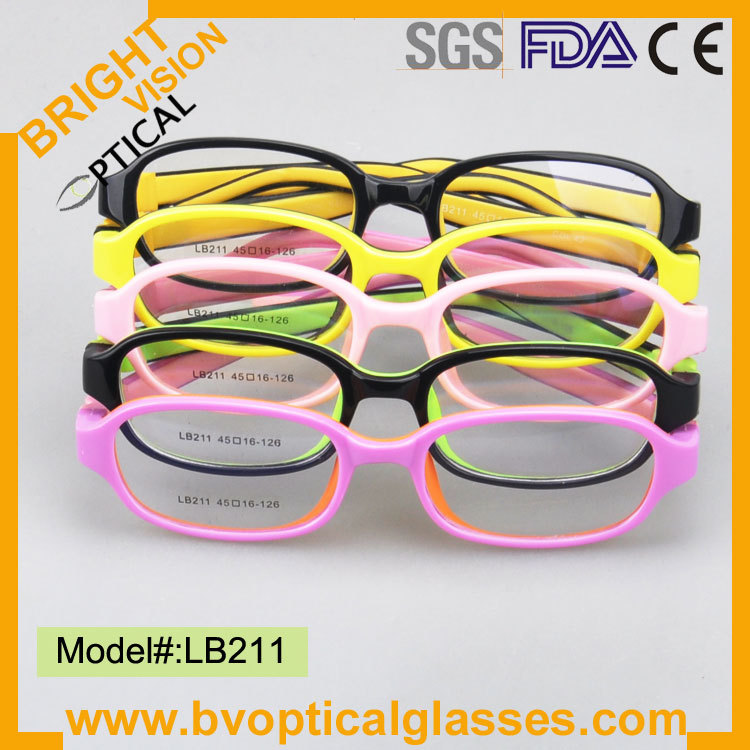 LB211 bright color most popular kids safe flexible optical eyewear glasses(China (Mainland))