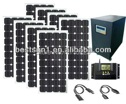 3KW Solar Energy Generator system Solar Power home Generator complete Kits 5000W whole solar power product 6000W(China (Mainland))