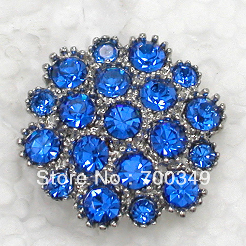 Free shipping EMS or DHL Wholesale Blue Crystal Rhinestone Small Flower Bridal Wedding party prom Pin Brooches Jewelry C1664 B