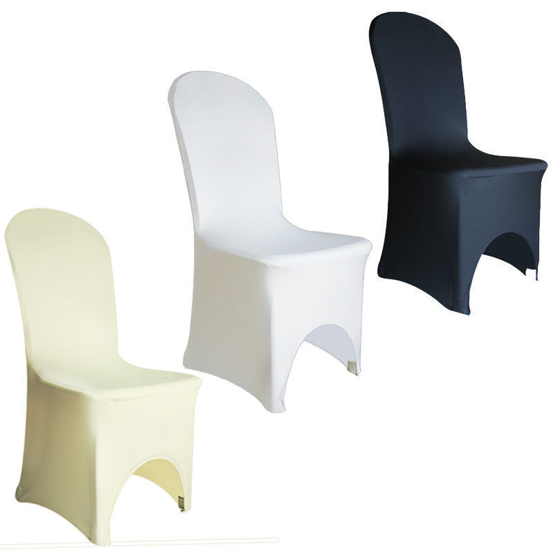 SPANDEX CHAIR COVER LYRCA WHITE BLACK COVERS BANQUET WEDDING RECEPTION