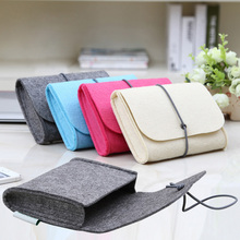 2015 New Brand Laptop Power Sleeve Case Hair felt Notebook power Bag mouse Pouch For Apple MacBook Pro/Air Laptop Power Bag(China (Mainland))