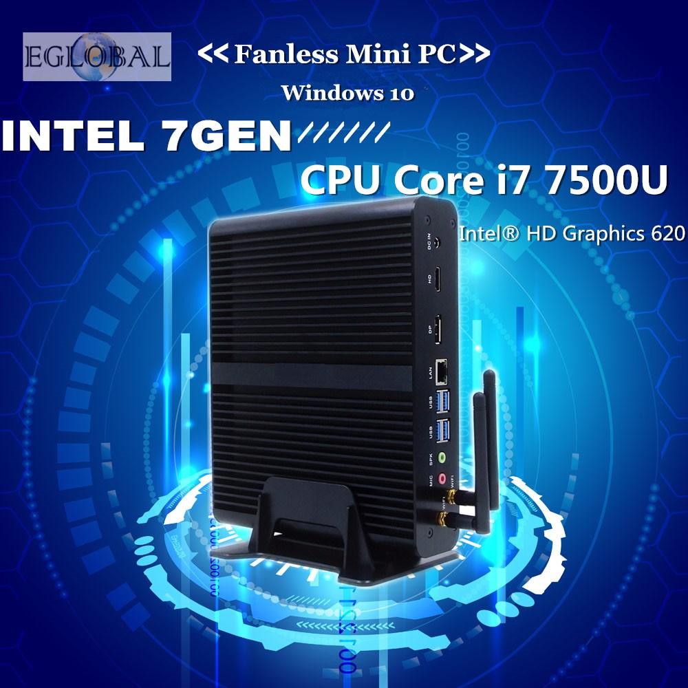 [Core i7 7500U] Eglobal 7th Gen Intel Kaby Lake Mini PC Windows 10 Max 3.5GHz Intel HD Graphics 620 Micro PC 4K HTPC Linux Kodi(China (Mainland))