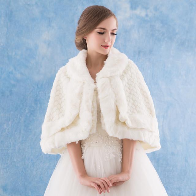 sioux city charms new hiver laine ch le de mariage mari e robe de mari e grande cape de. Black Bedroom Furniture Sets. Home Design Ideas