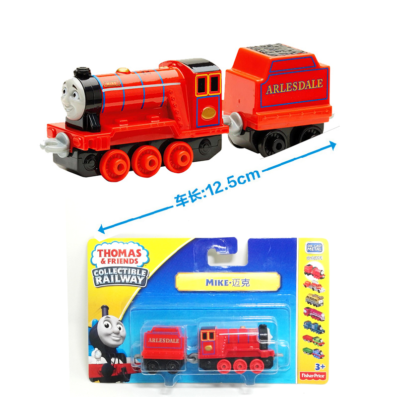 x124 NEW Arrival Diecast 1:64 Metal thomas and friends MIKE Tank Engine take Along Train toy with hook for children toy gift(China (Mainland))