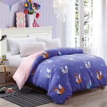Cute Pink White Rabbit Duvet Cover 1 Pc Aloe Cotton Bedding Quilt Blanket Comforter Cover 150*200cm 180*220cm 200*230 220*240cm(China)