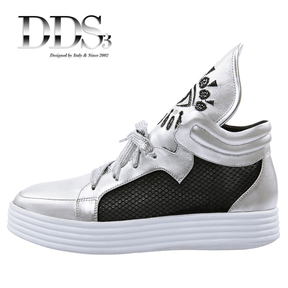 DDS3 Women Casual Shoes Black Silver Genuine Leather Mesh Breathable Woman Ankle Boots For Women Leather Shoes Females Botas<br><br>Aliexpress