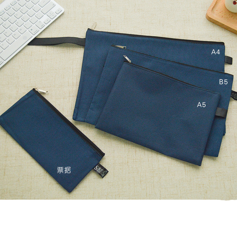 A5 B5 Bill Canvas File Folder Durable Zipper Document Bag Waterproof Paper File Folders carpetas Can print logo Custom(China (Mainland))