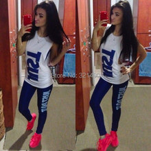 2015 Newest Women Sexy Sports Clothing Set Summer Sport Suit Costume Women's Tracksuits Tshirt+Pants +Tanks(China (Mainland))