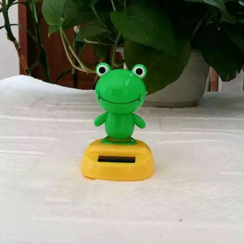 Wholesale 12 Pieces Per Lot Swing No Battery Novelty Home& Car Decoration Flip Flap Solar Toys Solar Dancing Frogs(China (Mainland))