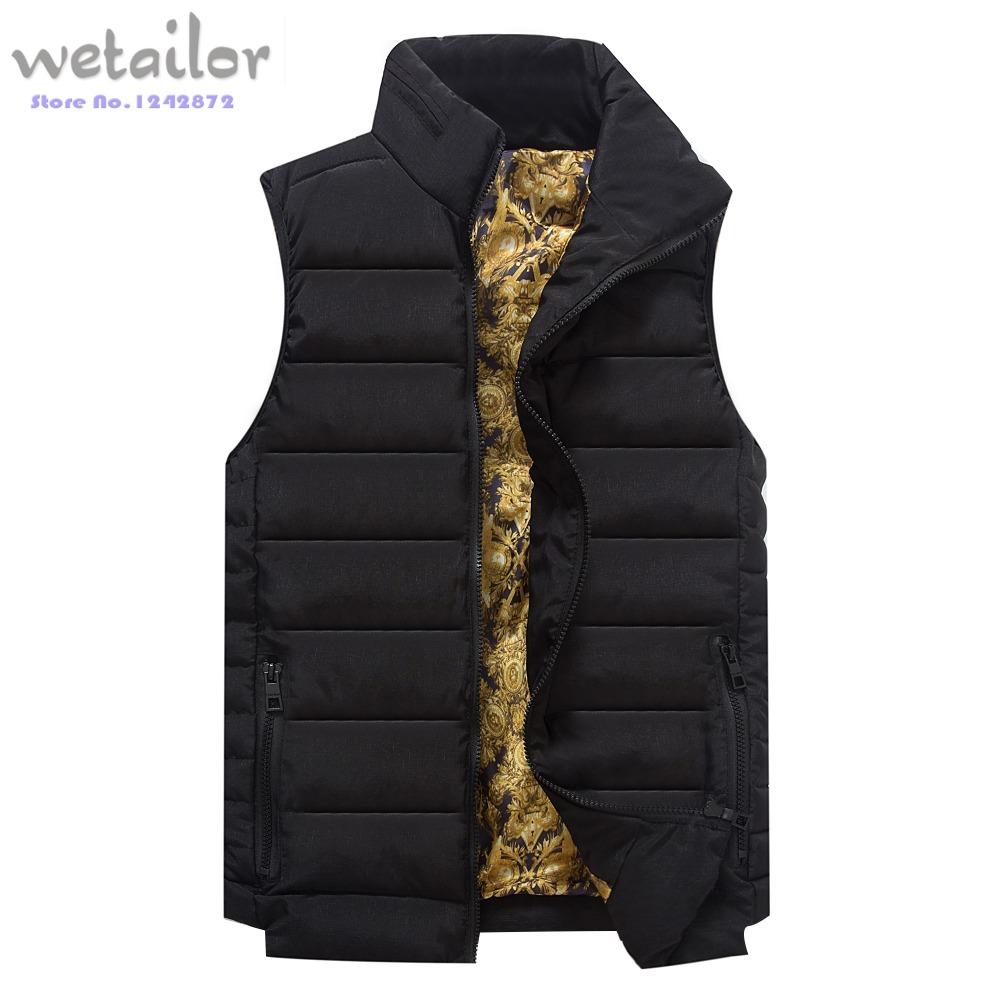 2015Down Jacket Veste Men Waistcoat Winter Vest men's Plus Size Sleeveless Custom made - WeTailor store