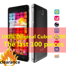 Original Cubot S208 MTK6582 Quad Core Mobile Phone1GB RAM 5.0 Inch slim QHD IPS sreen 8.0MP Camera GPS OTG Cell Phones W