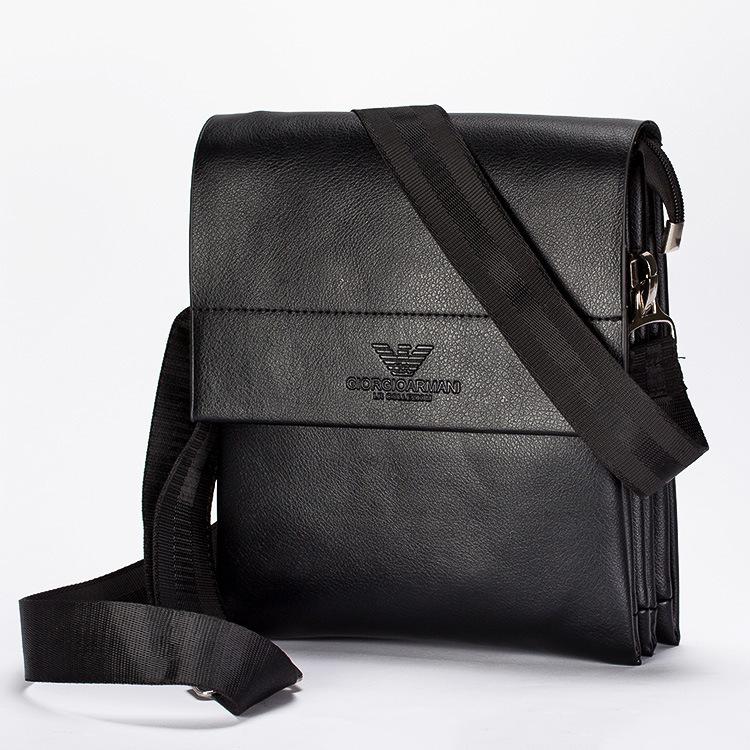 2016 Genuine Leather Bag Men's shoulder bag man bag business casual Messenger bag men handbag(China (Mainland))