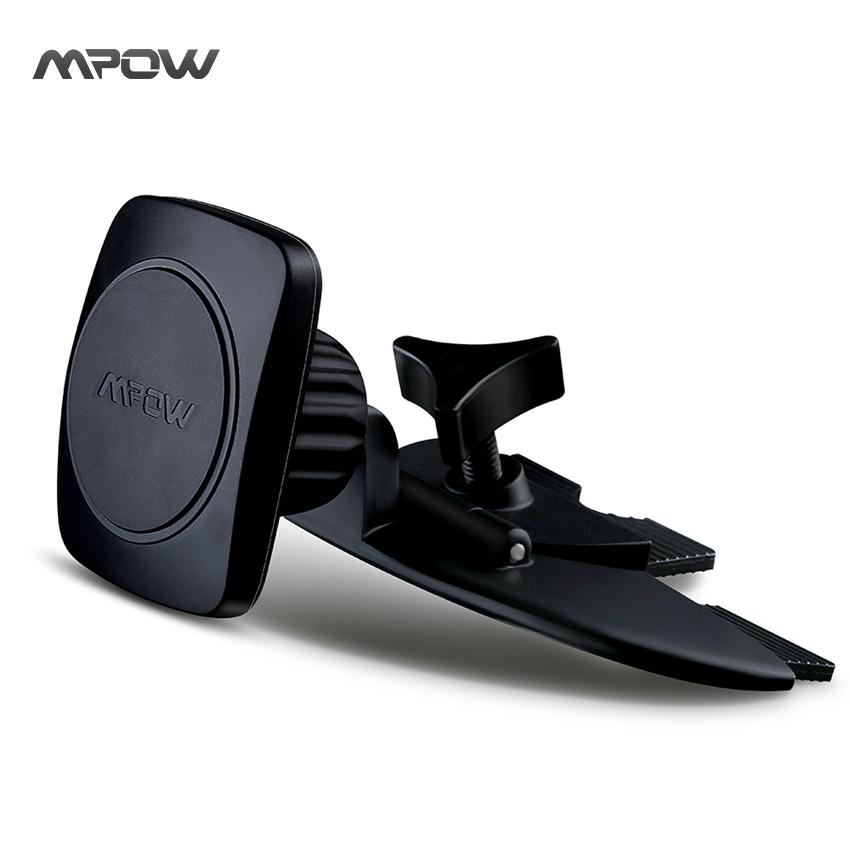 MCM3B Mpow BLACK Car Phone Holder Universal Magnet Grip Magic I CD Slot Car Cradle-less Mount Holder for iPhone 6s Plus 6s 5s(China (Mainland))