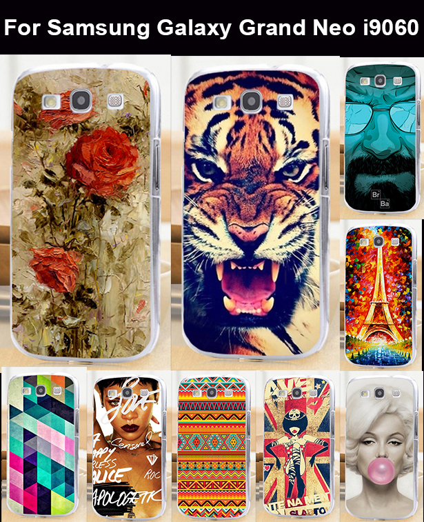 22 patterns mobile phone case protective case hard Back cover Skin Shell for Samsung Galaxy Grand Neo i9060 Duos i9082 case(China (Mainland))