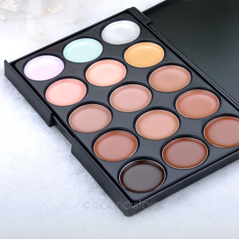 Makeup Palette Women 15 Colors Concealer Tone Base Makeup Maquiagem Skin Color Cover Foundation Contour Face Cream PMPJ034*75(China (Mainland))