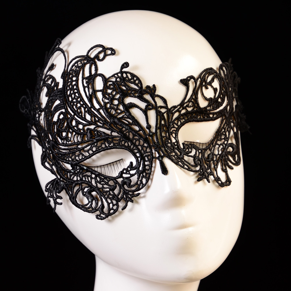 10 pieces /lot Women Sexy Black Flower Lace Masquerade MASK sexy black eye mask dance clubs Free Shipping(China (Mainland))