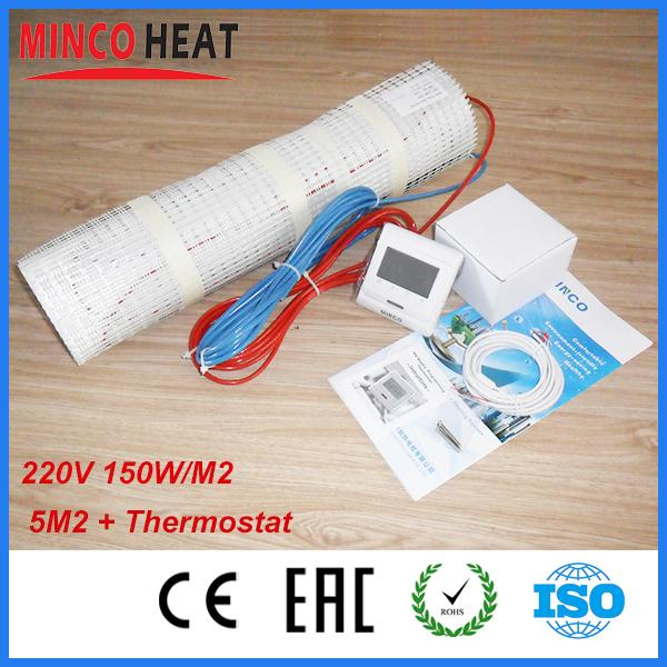 5SQM 150W/SQM floor heating mat + digital thermostat<br><br>Aliexpress