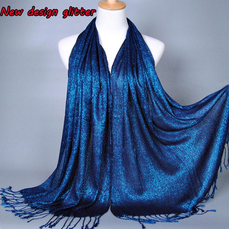 Без орнамента мерцание printe сплошной цвет блесточки вискоза люрекс длинная платки мусульманский хиджаб зима накидка шарфы / шарф 10 шт. / много