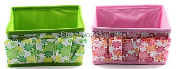 Bling Recommend Top Seller 1pcs/lot Flowers Woven Cosmetic Storage Box Multicolor Gift For Family 18*10*10cm -PY(China (Mainland))