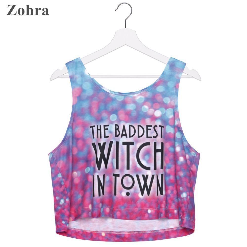 Zohra Hot Sale Short Tank Tops Baddest witch bokeh Print Women Crop Top Sexy Vest Women Girls Jogging Sport Printing CamisОдежда и ак�е��уары<br><br><br>Aliexpress