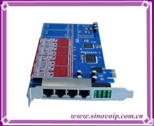 Best price 8 Ports FXO &FXS asterisk PCI-E card for voip ippbx ip pbx call center trixbox elastix