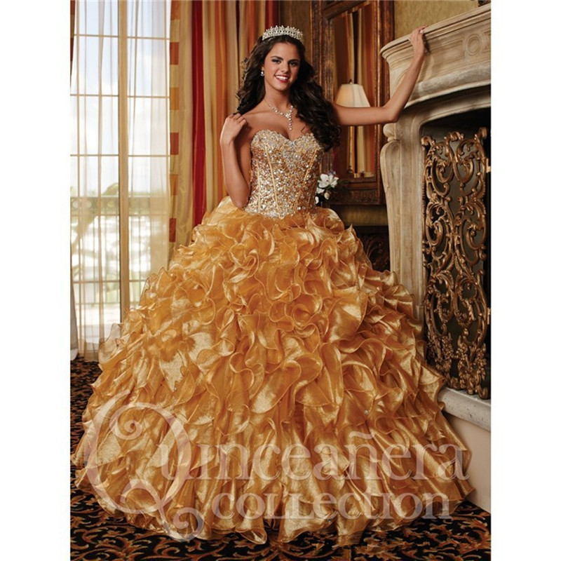 High Quality Quinceanera Dresses Gold Dress Promotion-Shop for ...