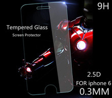 For iPhone6 iphone 6 Premium Tempered Glass Screen Protector HD Toughened Protective Film Ultra Thin 0.3mm with Retail package