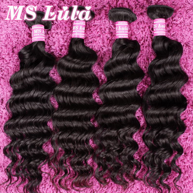 1 pc Unprocessed virgin brazilian human hair natural wave hair extensions, no tangle no shedding, new light hair