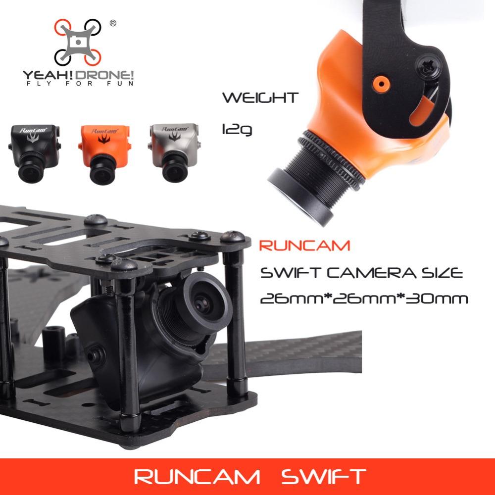 Runcam Swift FPV Camera PAL NTSC System 3 colours 600TVL Horizontal 2.8mm Fov 90 MINI HS1177 CM-650 Type YEAHDRONE(China (Mainland))