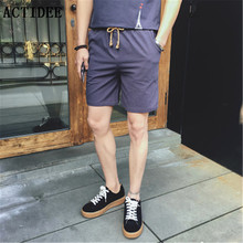 Buy 2017 New Summer 95% Cotton 5% Linen Casual Shorts Men Brand Beach Shorts Mens Board Shorts plus size 36 38 40 42 44 5z for $12.99 in AliExpress store