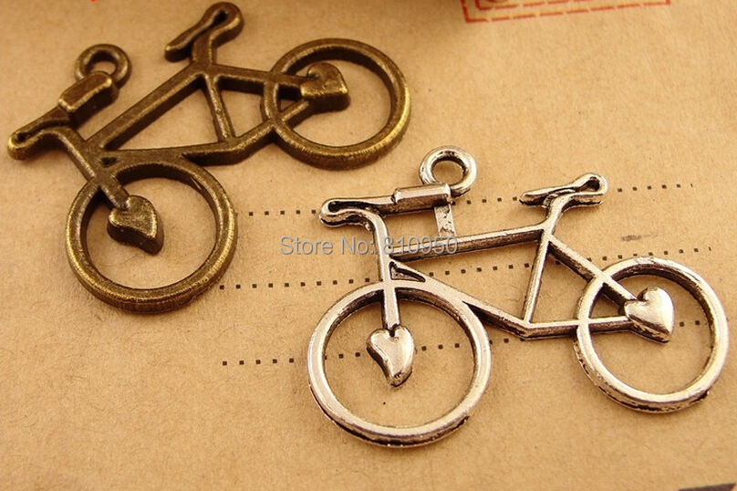 Promotion 100pcs 23X30mm Metal / Alloy Antique Bronze bicycle Jewelry Vintage Charms Jewelry Findings Fit Diy Accessories<br><br>Aliexpress