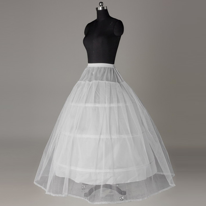 Free Shipping A-Line 3 Crinoline s One Layers Underskirt Wedding Petticoat Accessories For Bride Wedding Dresses(China (Mainland))