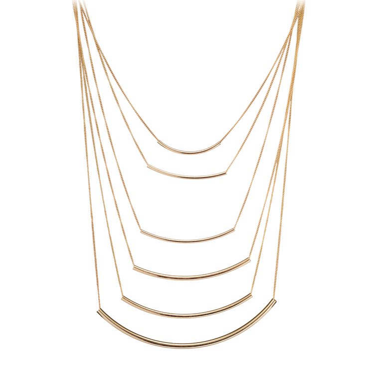 Latest 18K Real Gold Silver Color Alloy Multilayer Long Tassel Statement Necklace Body Chain Necklaces New