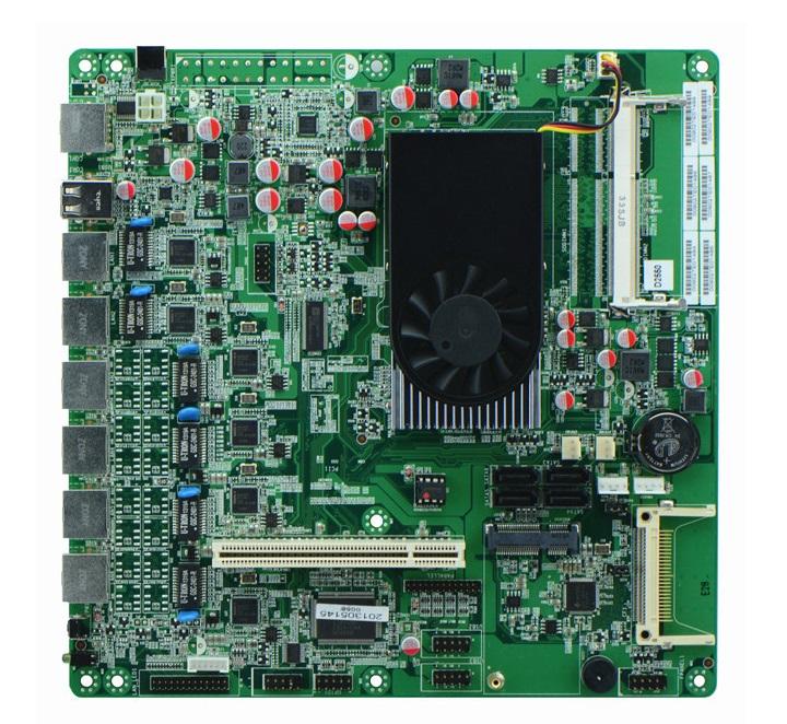 Intel Atom D2550 6 Gigabit Lan Ethernet Server Motherboard atom d525 motherboard with 6 lan(China (Mainland))
