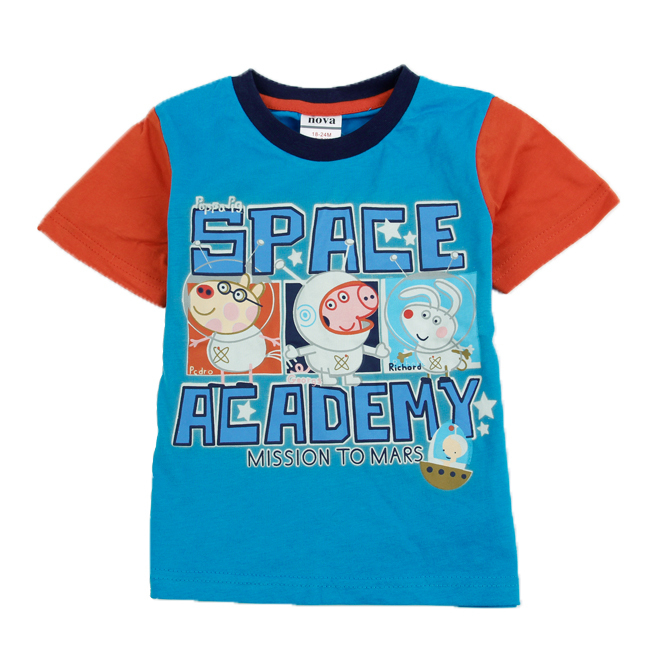 C4400# Nova T-shirts peppa pig TuTu summer baby clothing 100% cotton printing mission to Mars boys t shirt casual for boy<br><br>Aliexpress