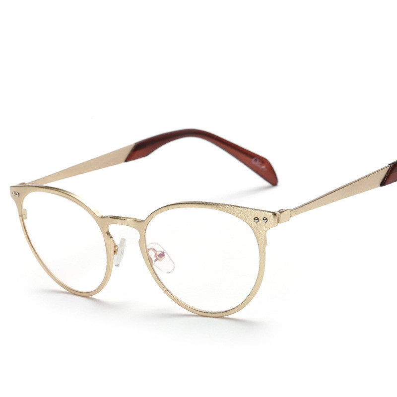 retro metal s glasses frame brand designer for