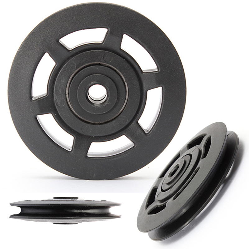 High Quality Universal 95mm Black Wearproof Bearing ABS Material Pulley Wheel Cable Gym Sport Equipments Part(China (Mainland))