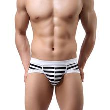 JU 12 Fairy Store Men's Sexy Stripe Cotton Underwear shorts men underpants Soft Briefs