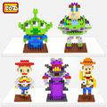 LOZ Toy Story Woody Buzz lightyear Jessie Toy Model Action Figure Building Blocks Original Retail Box