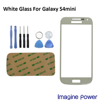 New white Front Outer Lens Glass Screen Cover Replacement For Samsung Galaxy S4 mini I9190 free tools+ +Adhesive