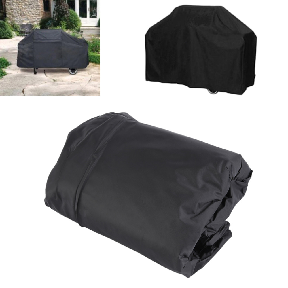 Universal Outdoor Waterproof Rain BBQ Cover Garden Gas Charcoal Electric Barbeque Grill Protective Cover 145X61X117cm Black(China (Mainland))