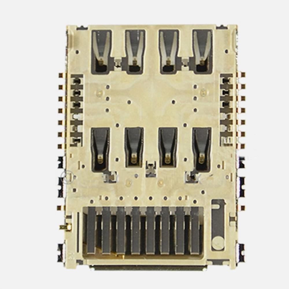 100pcs/lot For LG G3 D850 D851 D855 VS985 LS990 F400 SimCard Sim Card Reader Connector Slot